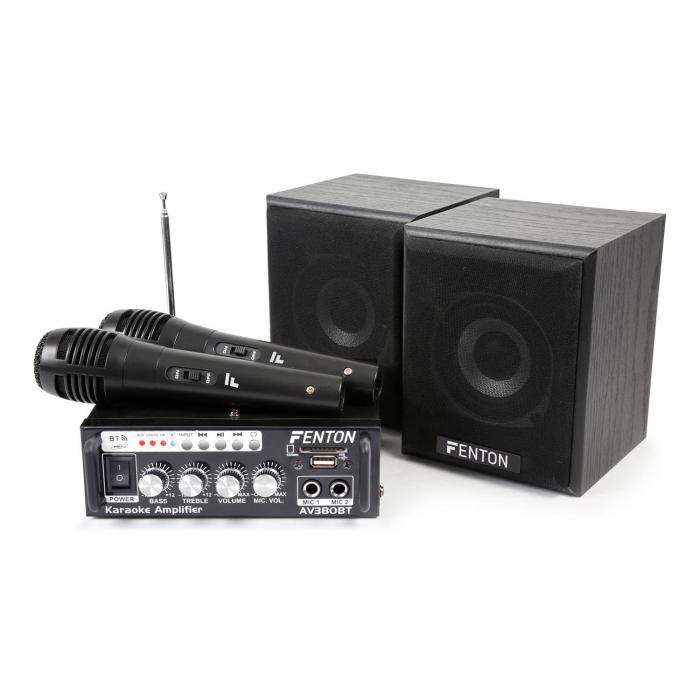 AV380BT Karaoke-Verstärker-Set USB SD BT 2x Lau...