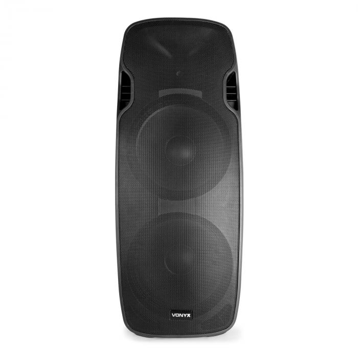 "AP215ABT MP3 Hi-End Altoparlante Attivo 1200W 2x15""-Mid-Low-Woofer"