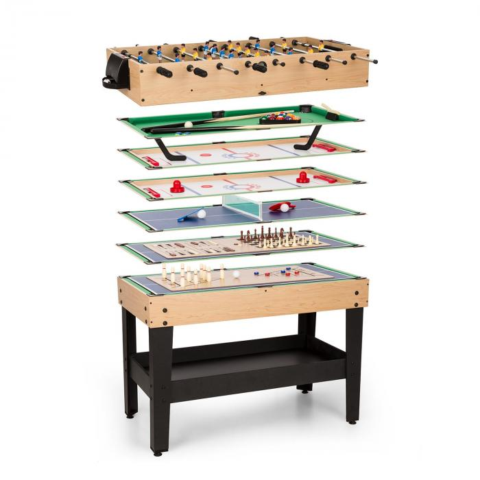 Game-Star Game Table with 15 Games Multigame Storage Tray MDF