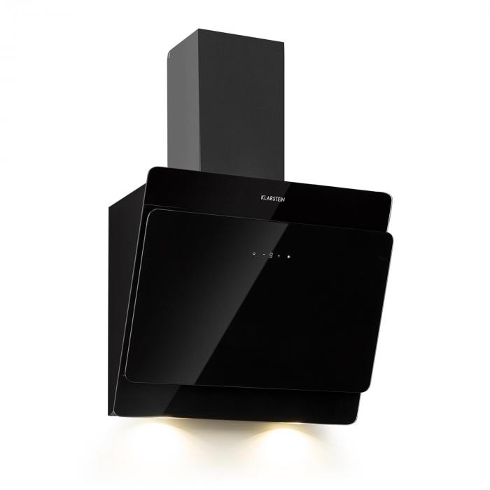 Aurica 60 Extractor Hood 165W 3 Levels 620m³/h LED Glass Black