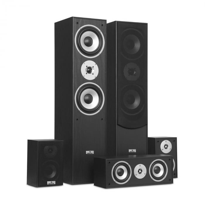 surround lautsprecher boxen set heimkino 335w rms schwarz. Black Bedroom Furniture Sets. Home Design Ideas