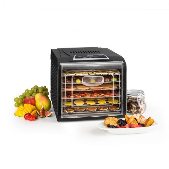 Fruit Jerky Plus 6 Dehydrator Timer6 TraysPan 420-500Wblack