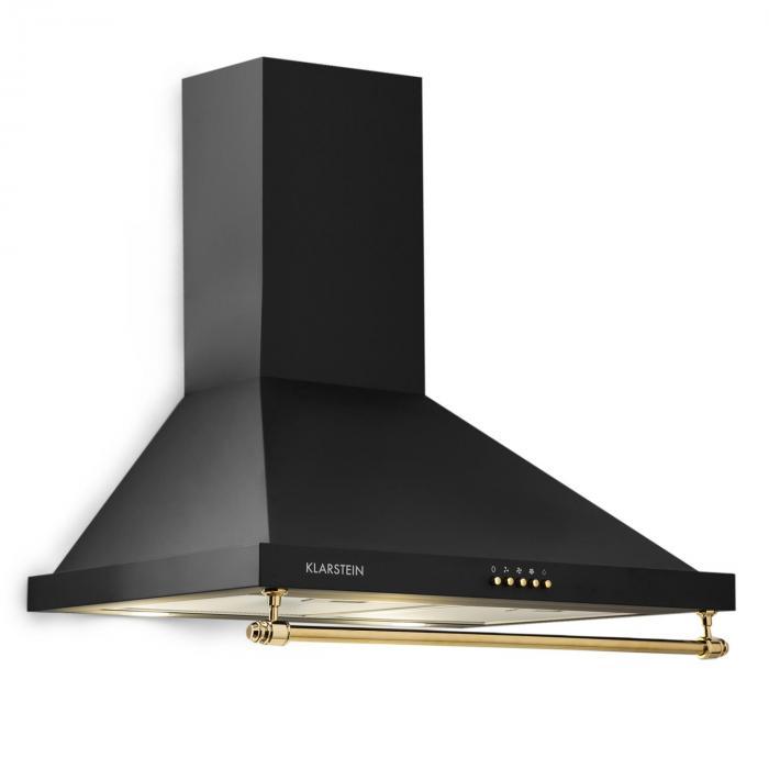 Klarstein Montblanc Okap kuchenny 610 m³/h 165 W 2x1,5W LED reling czarny