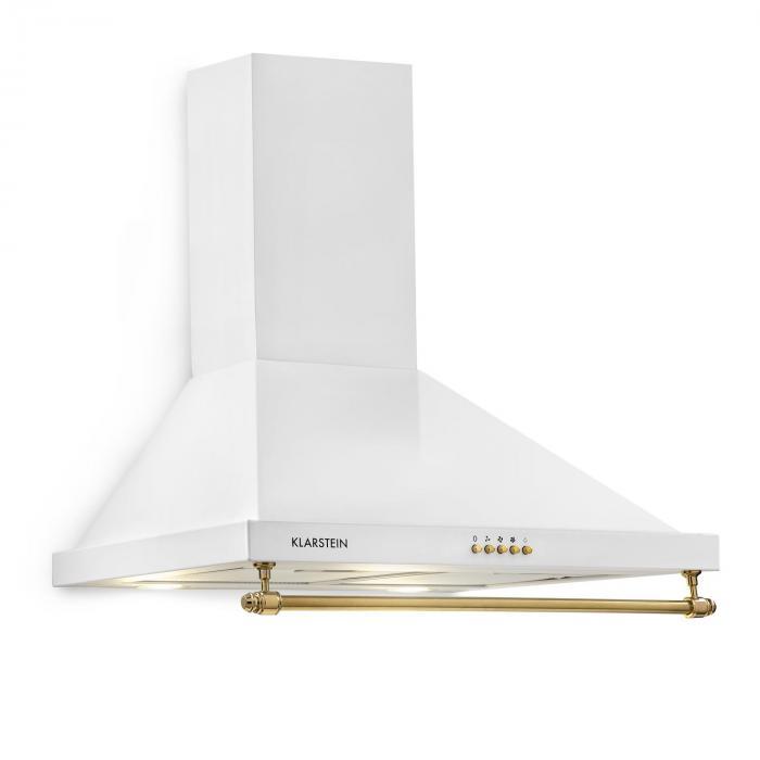 Klarstein Montblanc Okap kuchenny 610 m³/h 165W 2x1,5W LED reling biały