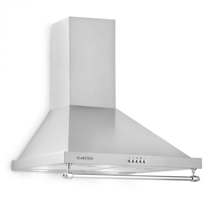 Klarstein Montblanc okap kuchenny 610m³/h 165W 2x1 reling LED 5W srebrno-szary