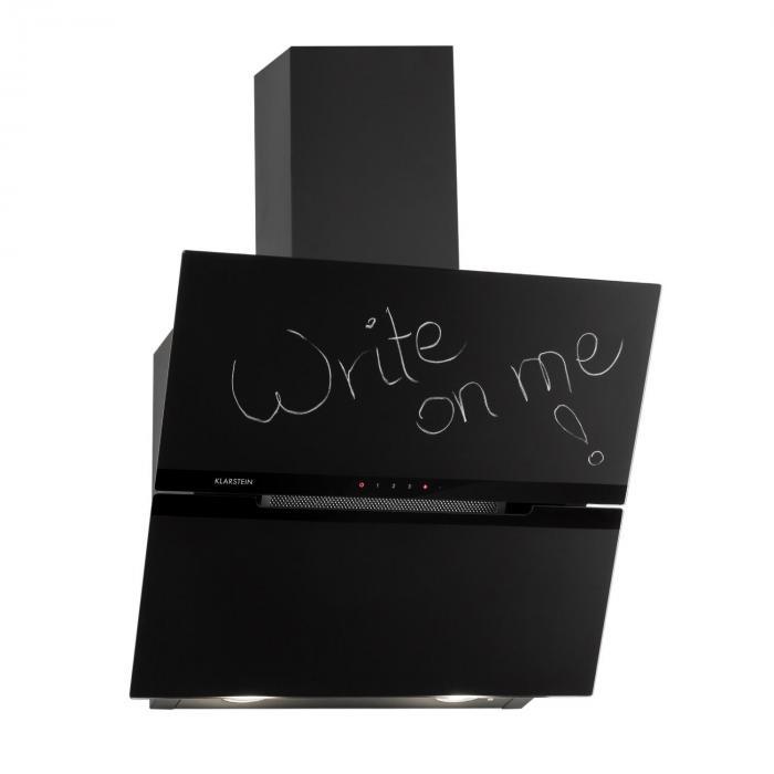 sancta clara 60 dunstabzugshaube 60 cm 620m h blackboard glas online kaufen elektronik star de. Black Bedroom Furniture Sets. Home Design Ideas
