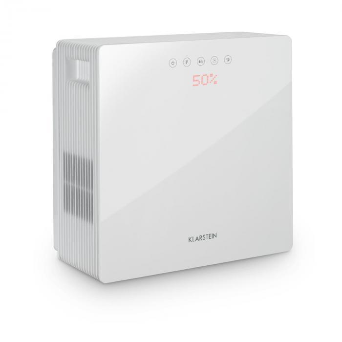 Klarstein PurePal oczyszczacz powietrza 2w1 nawilżacz powietrza 15W biały