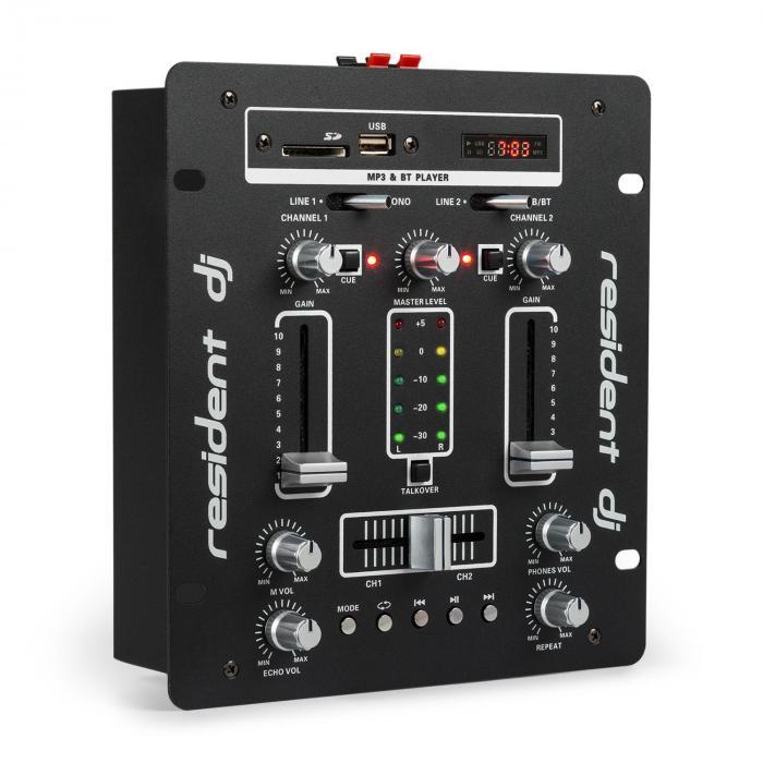 DJ-25 DJ-Mixer Mischpult Verstärker Bluetooth USB