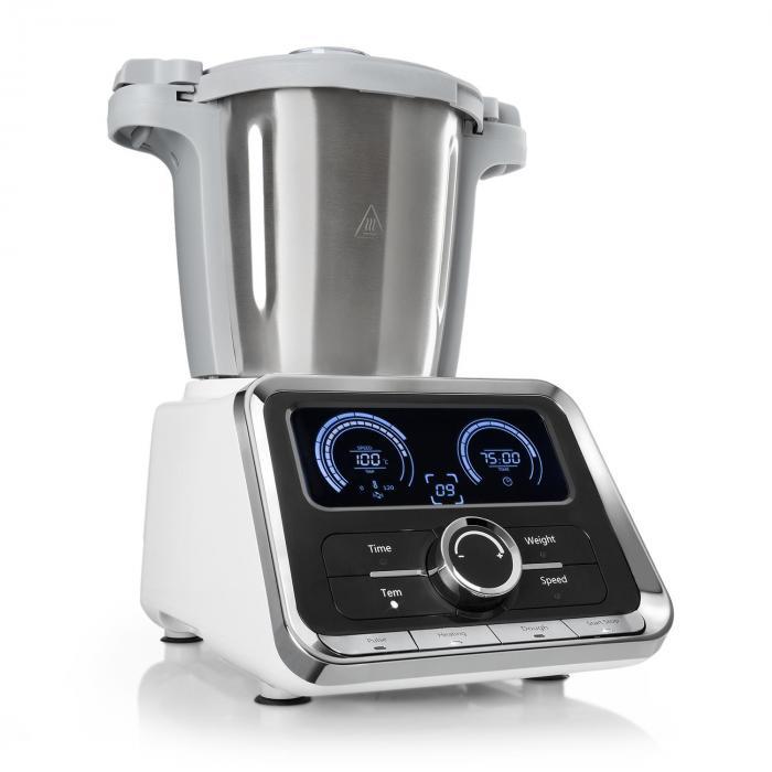 GrandPrix Küchenmaschine 500W/1000W 2,5l  Edelstahl-Rührschüssel