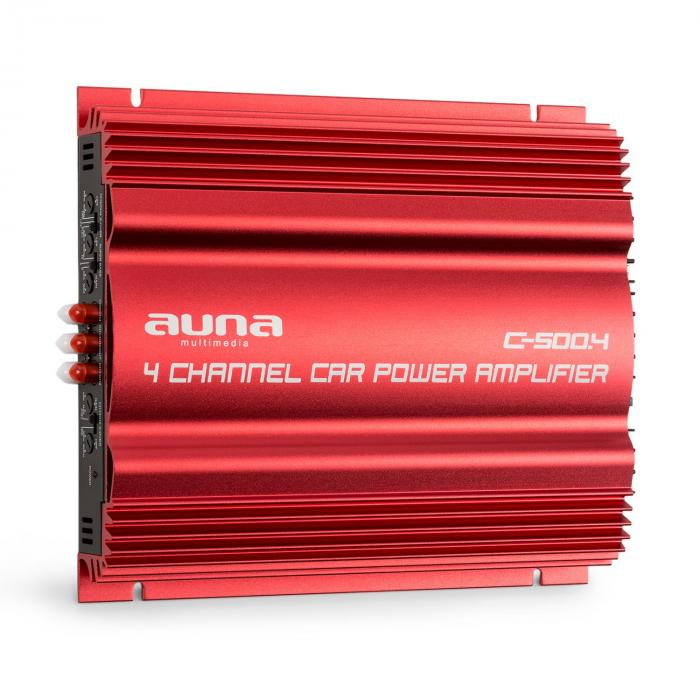 C500.4 Amplificatore Finale Auto a 4 Canali 4 x 65 RMS