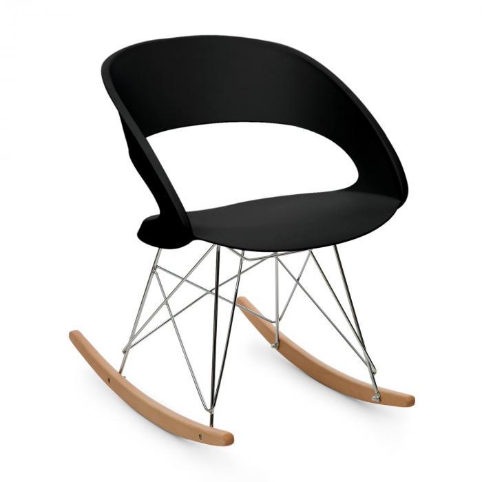 OneConcept Travolta krzesło bujane fotel retro siedzisko PP drewno brzozowe czar