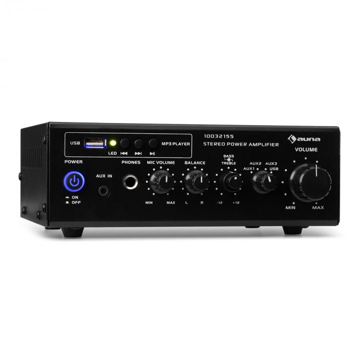 Amp3 USB Mini-Stereo-Verstärker Mikrofon- und K...