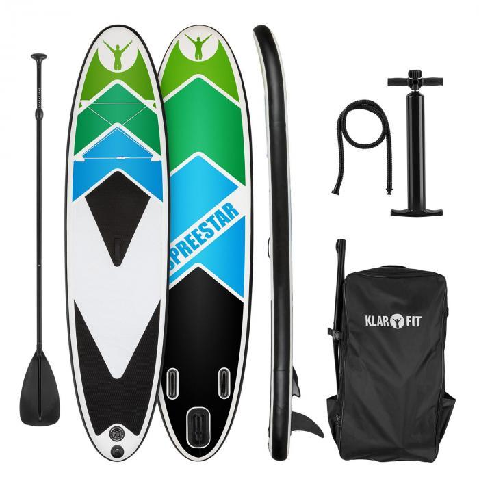 Spreestar 325 Planche de paddle gonflable 325x15x86 cm - noir & bleu Lc1K9U