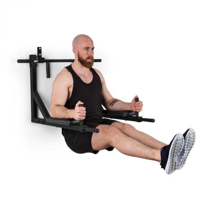 KLARFIT Hangman MultiGym stacja do dipów i ćwiczeń na poręczach 200 kg stal czarna