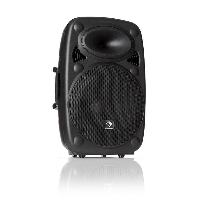 """Auna SLK-12-A Aktiv PA Högtalare 12"""" 700 W max. USB- och SD-ingångar MP3"""