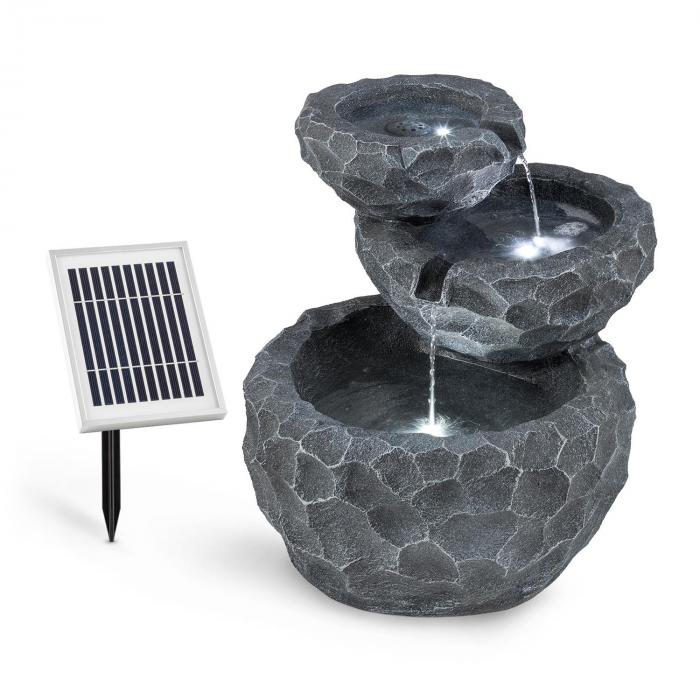 murach fontaine de jardin en cascade batterie 2 kw panneau. Black Bedroom Furniture Sets. Home Design Ideas