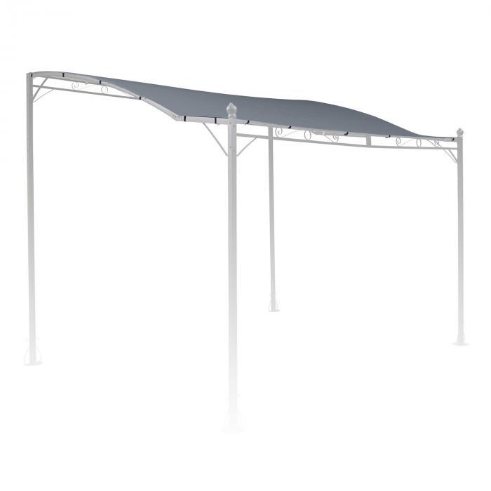 Allure Roof harmaa varakatto Allure Pergola katokselle 3 x 2,5 m harmaa