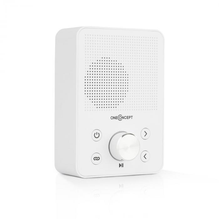 OneConcept oneConcept Plug+Play FM Radio gniazdkowe, tuner UKF, USB, BT, kolor biały