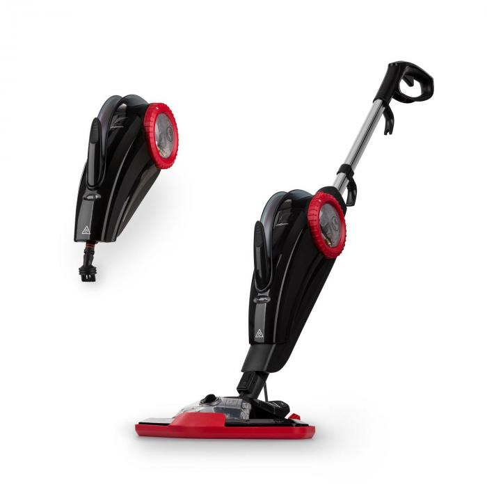 Flux Steam Cleaner 1600W Hand and Floor Device 600ml Red