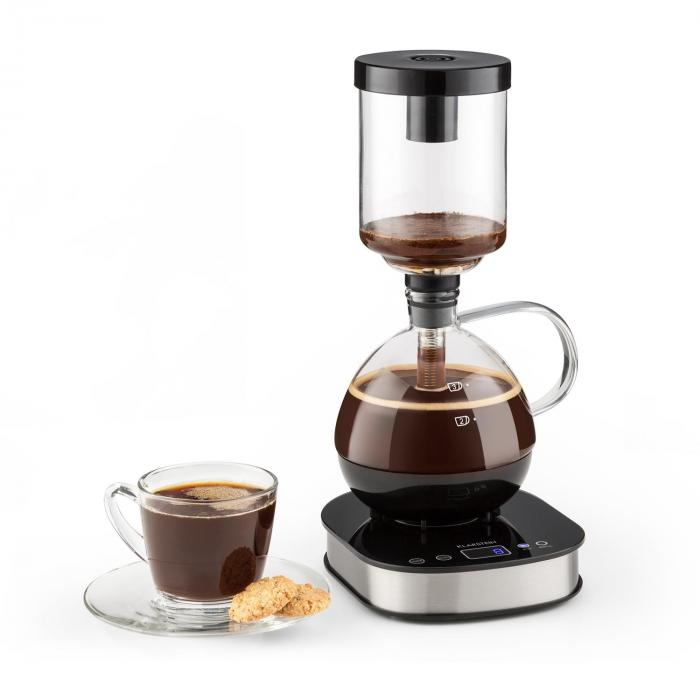 Coffee Maker Base a 360° Display LCD Mantenimento temperatura 500W Vetro