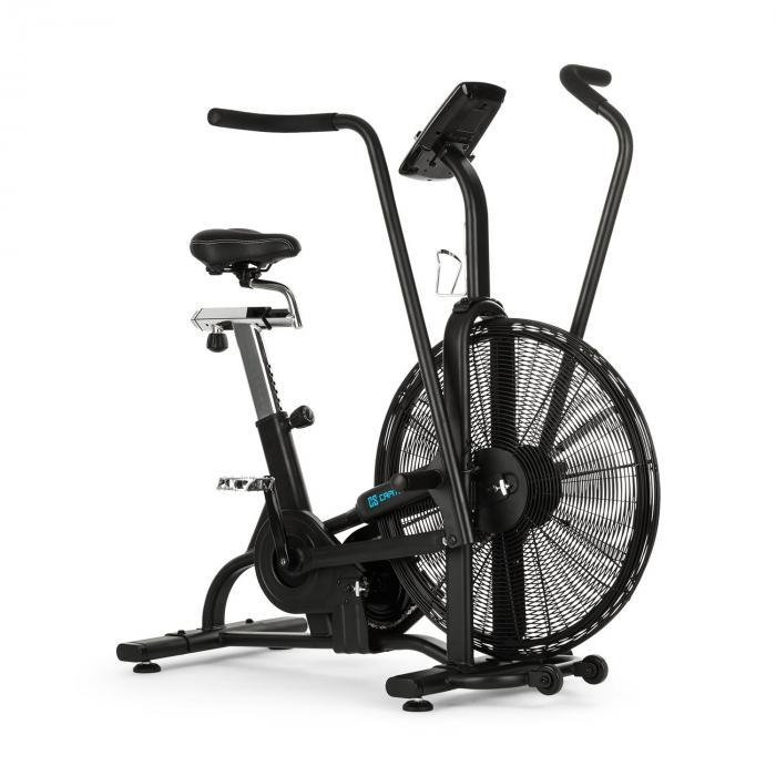 Capital Sports Strike Bike Trenażer eliptyczny z oporem powietrznym komputer treningowy BT kolor czarny