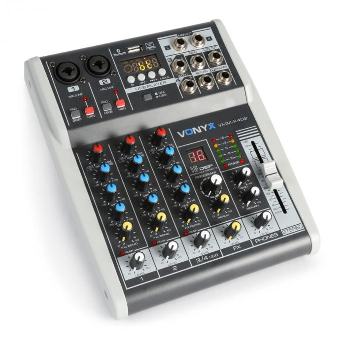 vmm k402 table de mixage 4 canaux bluetooth interface. Black Bedroom Furniture Sets. Home Design Ideas