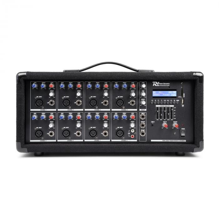 PDM-C805A 8-channel Mixer with an Amplifier, USB and SD slot