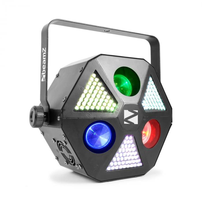 MadMan LED-valonheitin 132 x RGB 3 in 1 SMD-LED-valo DMX- tai stand alone -käyttö
