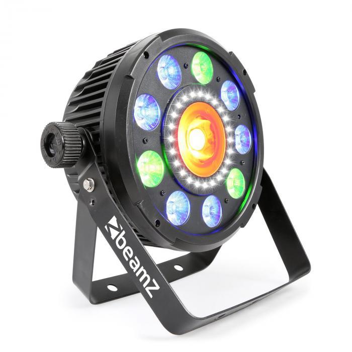 BX96 PAR 9x9W 6in1 RGBW-UV LEDit 24xSMD-LEDit COB-tehnologia kaukosäädin