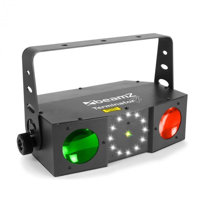 Terminator IV Effetto 3in1 Moonflower, Laser e Strobo Telecomando