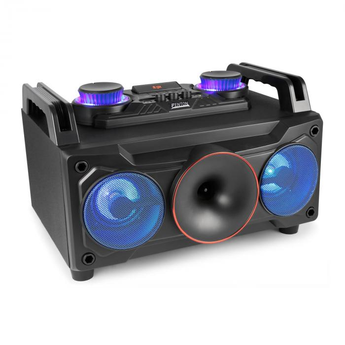 "MDJ110 Media-Player USB SD BT AUX 120W Amplificatore 6,5"" Woofer RGB-LED"