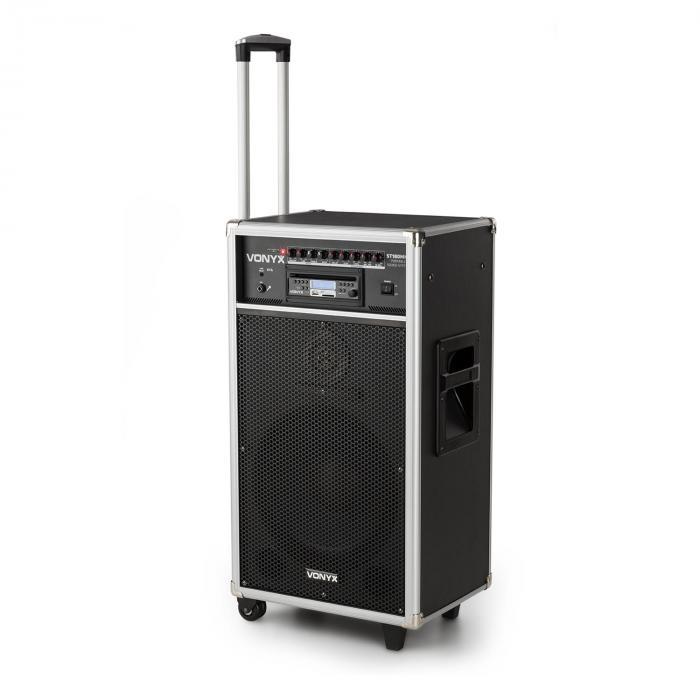 Vonyx ST180MKII Przenośny system nagłośnieniowy 450 W USB, SD/MMC do MP3 CD