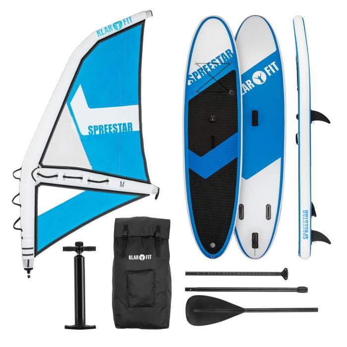 Spreestar WM Inflatable Paddle Board SUP Board Set 300 x 10 x 71 Blue-White