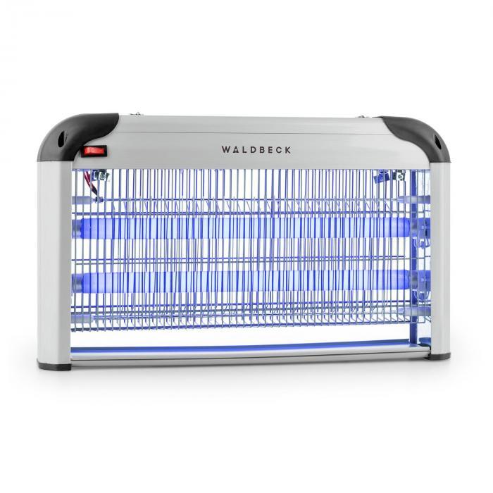 Waldbeck Mosquito Ex 5000 Lampa owadobójcza 38 W światło UV 150 m² kolor srebrny