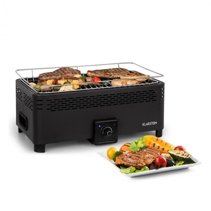 Micro-Q 3131 Charcoal Grill, Rectangle, 42 x 23, Grill Grate, Black