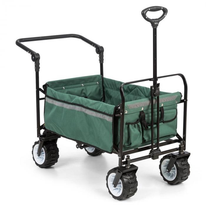 Waldbeck Easy Rider Ręczny wózek transportowy do 70 kg drążek teleskopowy składany kolor zielony
