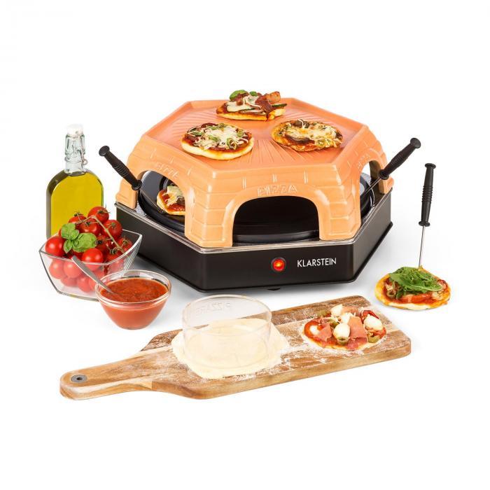 Klarstein Capricciosa piec piekarnik do pizzy 1500W osłona z terakoty  funkcja utrzymywania ciepła