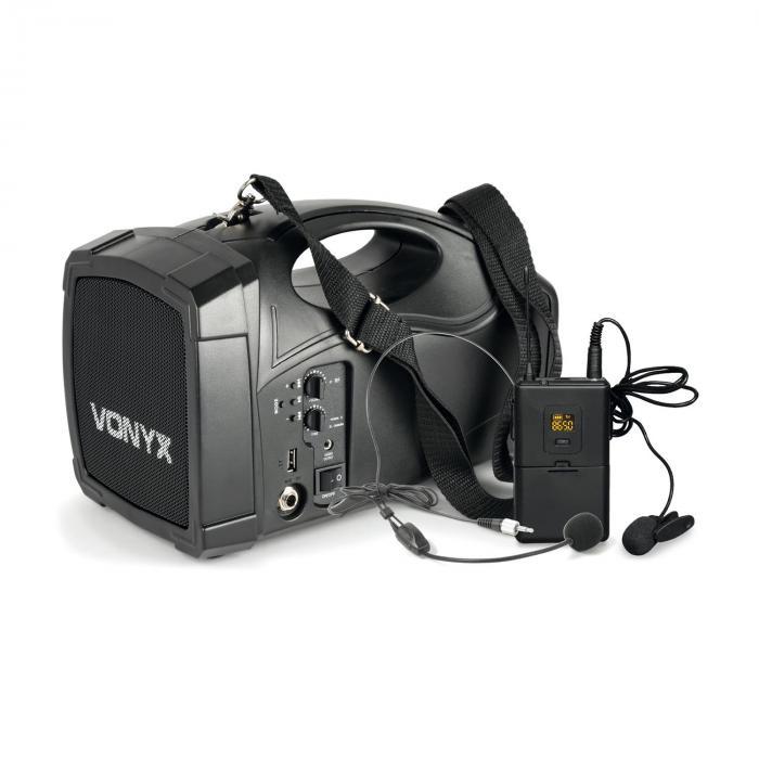 ST012 Portable PA Wireless System Body Check Microphone SMT USB BT MP3 12Vdc Battery