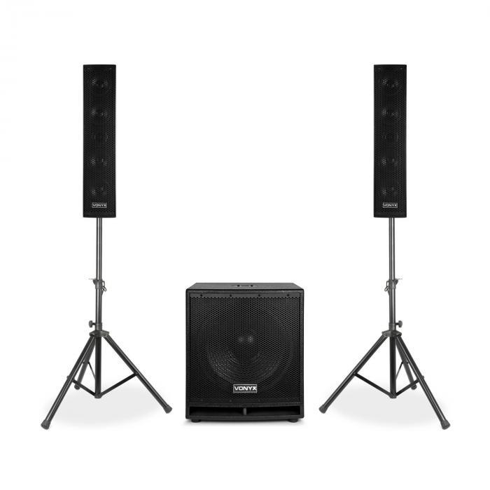 "VX880BT 2.1 Active Speaker Set 1000 W 15"", 2 x 8"", USB / SD / MP3 / BT"