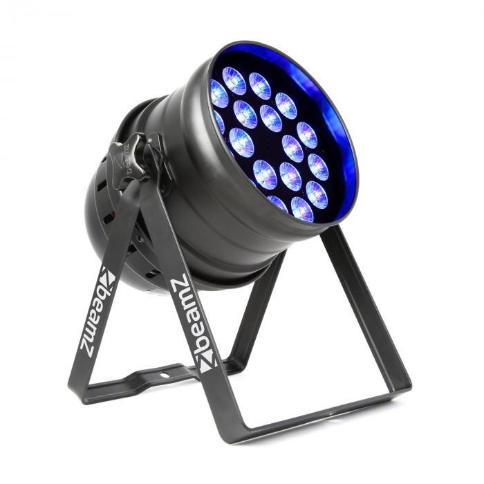 Beamz  BPP100 PAR 64 reflektor projektor LED 18x6 RGBW 60W czarny