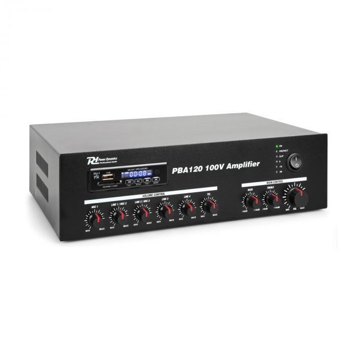 Power Dynamics PBA120 100V Wzmacniacz 120 W USB/SD MP3 Bluetooth