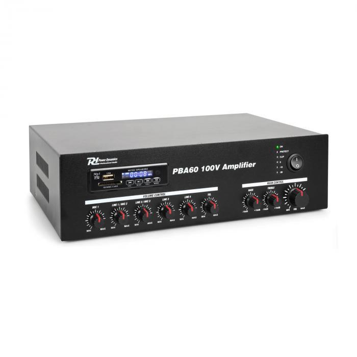 Power Dynamics PBA60 100V Wzmacniacz 60 W USB/SD MP3 Bluetooth