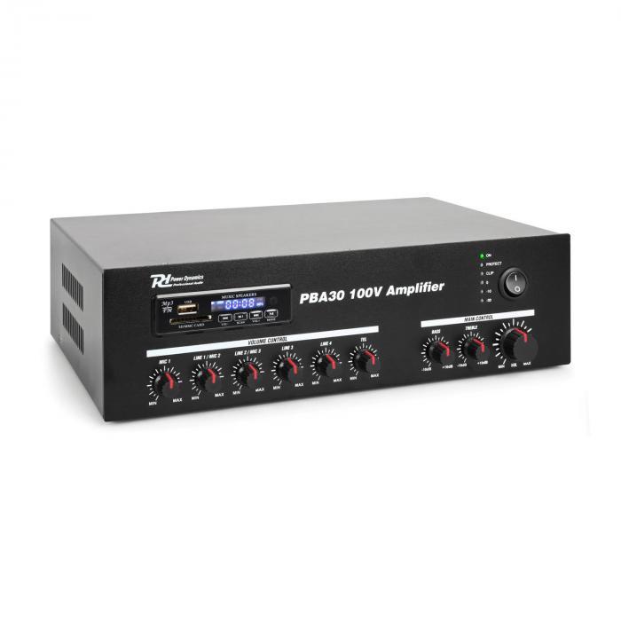 Power Dynamics PBA30 100V Wzmacniacz 30 W USB/SD MP3 Bluetooth