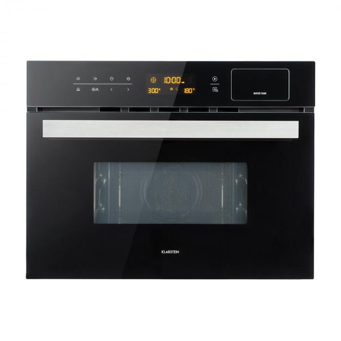 Klarstein Luminance Steam kuchenka mikrofalowa do zabudowy 34 l mikrofale: 900W czarna