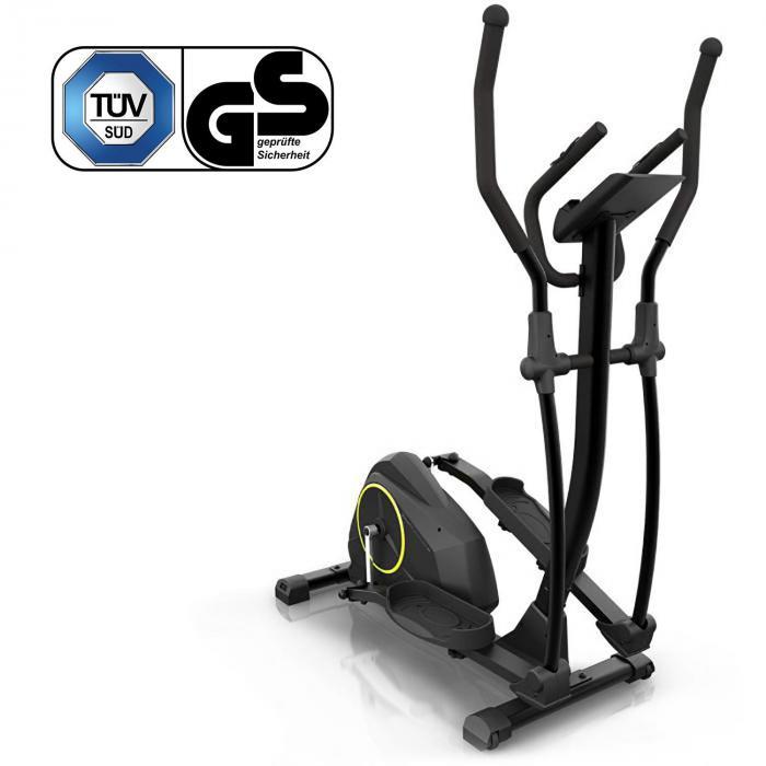 Epsylon Cross AS Crosstrainer, 12 kg Schwungmasse, Riemenantrieb schwarz