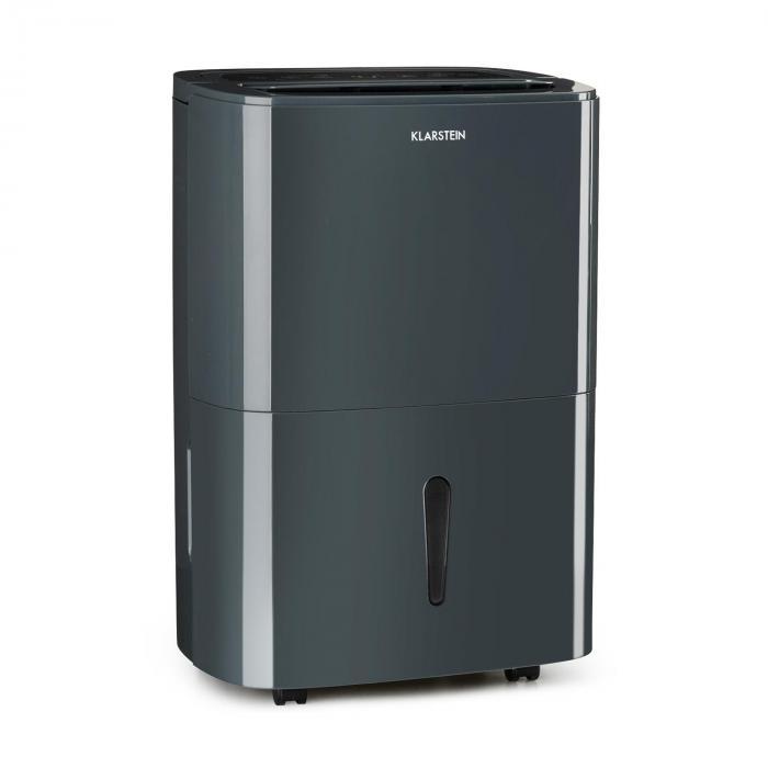 Klarstein DryFy20 Osuszacz powietrza 420 W 20 l/24 h 230 m³/h 40–50 m² DrySelect 40 dB kolor szary