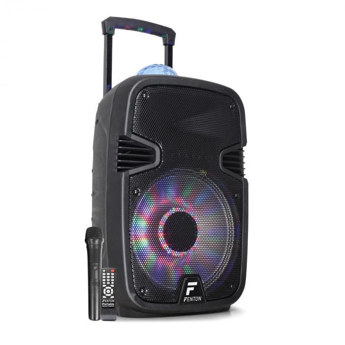 "Fenton FT12JB Active Speaker 12"" 700W BT/USB/SD/AUX LED"
