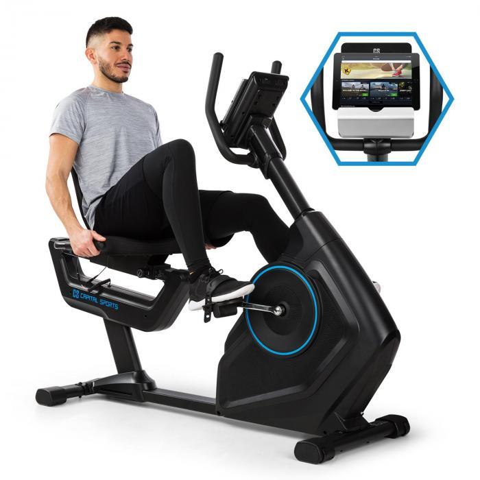 Capital Sports Evo Deluxe Trenażer rowerowy cardio Bluetooth aplikacja 20 kg masy zamachowej