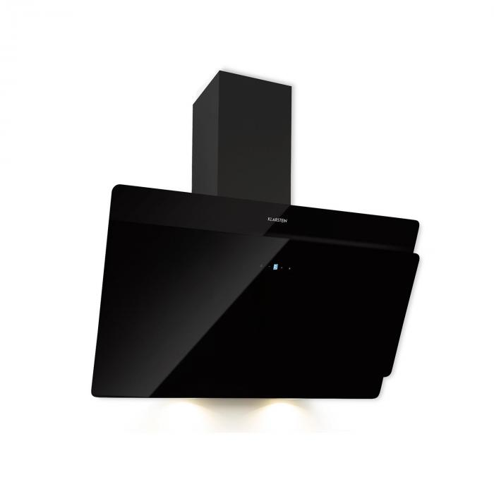Aurica 90 Cooker Extractor Hood, 90 cm, Wall-mounted, 165 W, Black