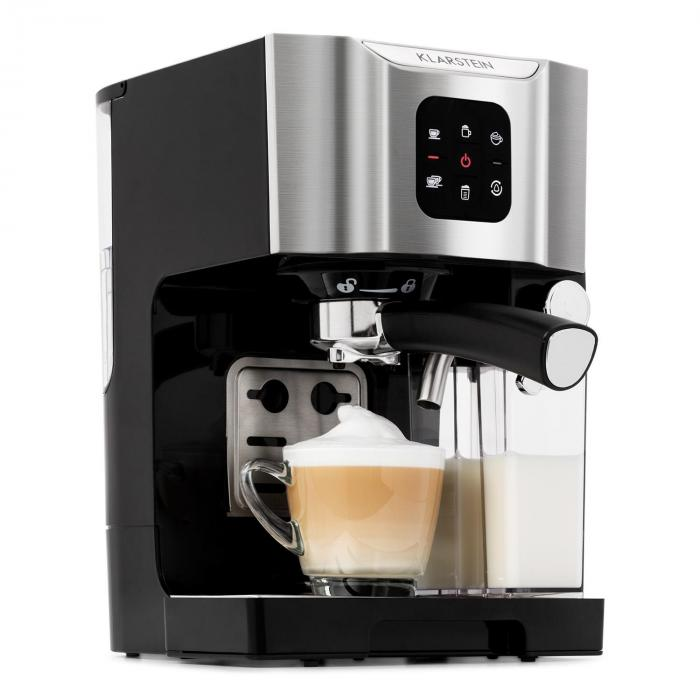 BellaVita Coffee Machine, 1450 W, 20 Bar, Milk Frother, 3-in-1, Grey